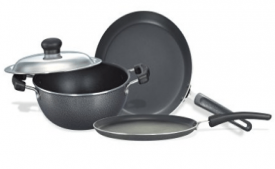 Buy Prestige Omega Select Plus Non-Stick BYK Set, 3-Pieces at Rs 1,308 from Amazon