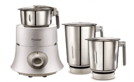 Buy Prestige Teon 750-Watt Mixer Grinder with 3 Stainless Steel Jars at Rs 3,019 from Amazon