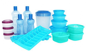 Buy Princeware Plastic Refrigerator Jar Set, 17-Pieces at Rs 394 from Amazon