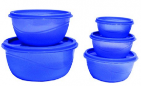 Buy Princeware Store Fresh Plastic Bowl Package Container, Set of 5, Blue at rs 119 from Amazon