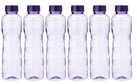 Buy Princeware PET Fridge Bottle, 975 ml, Set of 6, Violet at Rs 243 from Amazon