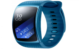 Buy SAMSUNG Gear Fit 2 Blue Smartwatch at Rs 8,990 from Flipkart
