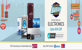 Shopclues Super Bargain Sale Online Upto 85% off Deals on Electronics November 2017