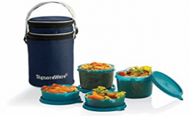 Buy Signoraware Executive Lunch Box with Bag, 15cm, T Blue at Rs 564 from Amazon