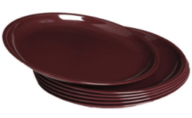 Buy Signoraware Round Half Plate Set, Set of 6, Maroon at Rs 220 from Amazon