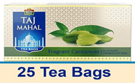Buy Taj Mahal Fragrant Cardamom Tea Bags 25 Pcs from Amazon at Rs 105 Only