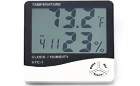 Buy Temperature Humidity Time Display Meter with Alarm Clock at Rs 299 from Amazon