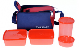 Buy Topware TP05 4 Containers Lunch Box (1000 ml) at Rs 169 from Flipkart