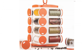 Buy Tosmy 16 Jar Revolving Masala / Spice Rack at Rs 553 from Amazon