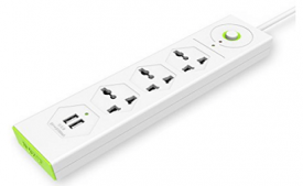 Buy Tukzer 3 Way+2 USB Port Spike Guard at Rs 599 from Amazon