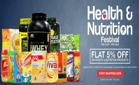 ZopNow Coupons & Offers: Flat 60% off on Health & Nutrition August 2017