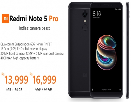 Buy Redmi Note 5 Pro [ 4GB RAM, 64GB ROM ] just at Rs 14,999 Only from Flipkart, Next Sale Date is 16th July @ 12PM