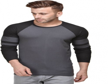Buy fabstone collection Men's Slim Fit Solid T-Shirt (Grey) in just Rs 99 Only From Paytm mall