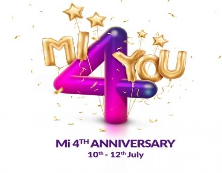 Mi 4th Anniversary Sale [10th To 12th July 2018] : Buy Mi Redmi Y1, Mi Redmi Note 5 Pro & More in Just Rs 4