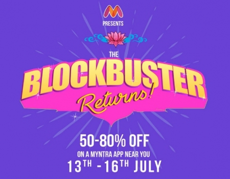 Myntra Blockbuster Returns Sale: Get Upto 50-80% Off + Extra 10% Discount Via SBI Credit Card [13th-16th July]