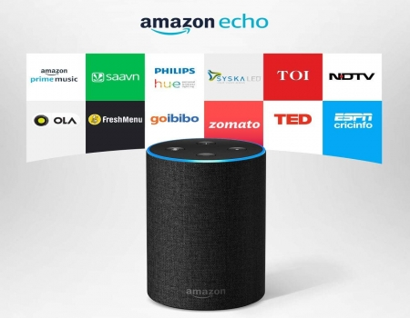 Buy Amazon Echo Voice control Powered by Dolby (Black) at Rs 6,999 on Amazon