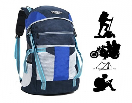 Buy Impulse 65 Ltrs Blue Trekking Backpack (Inverse U Orange) Men & Women at Rs 999 only from Amazon