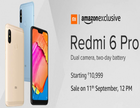 Buy Xiaomi Redmi 6 Pro Amazon Price Starts @Rs 7,999: Next Sale Date on 18th Sep 12PM, Launch Date, Specifications