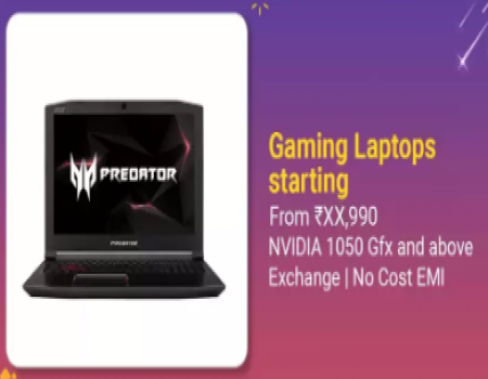 Gaming Laptop MSI, Acer Nitro Predator Core i7 7th Gen starting just at Rs 49,990 on Flipkart Big Billion Day Sale + Extra 10% Instant Discount* with
