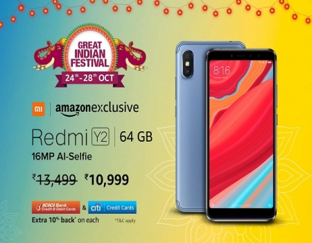 Buy Redmi Y2 Amazon Price at Rs 10,999: Sale On 24th oct at 12PM, Specifications & Buy Online + Get Extra 5% instant Discount* Via HDFC credit/debit c