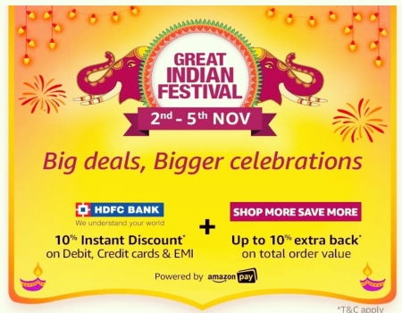 Amazon Great Indian Festival Sale 2018: Upcoming Diwali Mobile Deals + Extra HDFC Card Offers