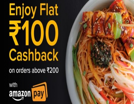 Freshmenu Coupons Offers: Flat 50% OFF, Extra Rs 100 Cashback on Orders above Rs 200 Via Amazon Pay