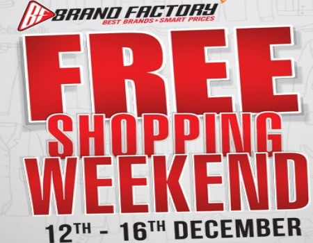 Brand Factory Free Shopping Weekend: Shop Worth Rs 5000 And Pay Only Rs 2000 + Get Extra Cashback/Gift Vouchers [Get Rs 250 Cashback On Passes]