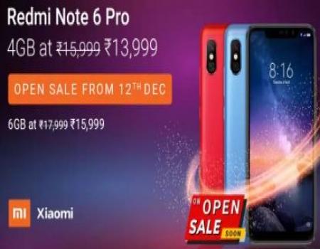 Xiaomi Redmi Note 6 Pro Flipkart Price @11,999- Open Sale, Specifications & Buy Online In India