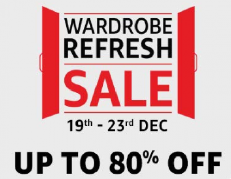 Amazon Wardrobe Refresh Sale [19th Dec-23rd Dec]: Get Upto 80% OFF on Clothing, Footwear, Watches, Backpacks and Many More, Extra Citi Bank and Amazon
