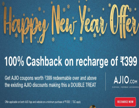 Jio Recharge Offers- Get 100% Cashback on Jio Recharge of Rs 399