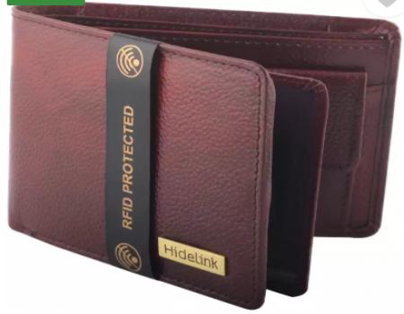 Buy Hidelink Men Formal Brown Genuine Leather Wallet (6 Card Slots) at Rs 465 from Flipkart