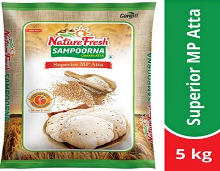 Buy Nature Fresh Sampoorna Chakki Atta, 10kg at Rs 299 from Amazon
