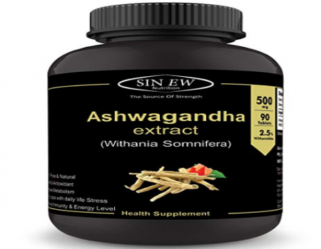 Buy Sinew Nutrition Ashwagandha General Wellness Tablets 500mg at Rs 139 only from Amazon