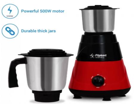 Buy Flipkart SmartBuy PowerChef Basic 500 W Mixer Grinder at Rs 1,049 from Flipkart