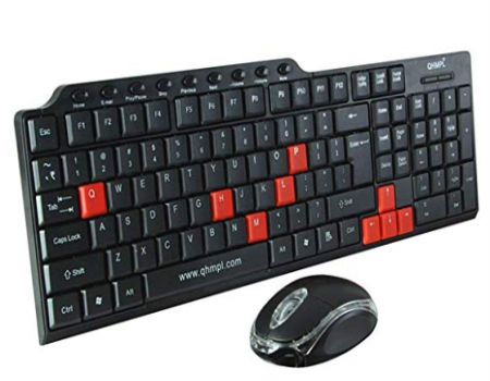 Buy Quantum QHM8810 Keyboard with Mouse (Black) from Amazon at Rs 299 Only