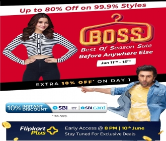 Flipkart Best Of Season Sale [11th - 15th July]- Get 50-80% OFF on Fashion Products only on Flipkart