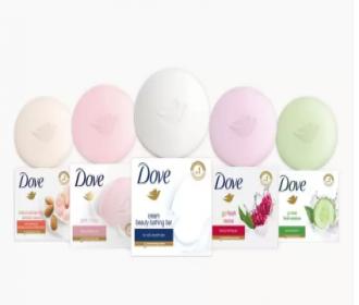 Buy Dove Cream Beauty Bathing Bar (800 g, Pack of 8) at Rs 286 only from Flipkart