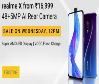 Buy Realme X Amazon Flipkart Price @ Rs 15999: Open sale, Specifications, Buy Online In India, Launch In India 15th July