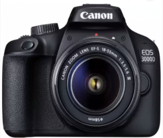 Buy Canon EOS 3000D DSLR Camera Single Kit with 18-55 lens at Rs 19,999 only from Flipkart