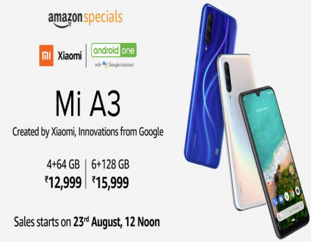 Buy Xiaomi Mi A3 From Amazon: Next Sale Date 23rd August, Specifications, Buy Online in India