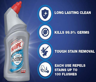 Buy Harpic Platinum Active-Shield Toilet Cleaner, Marine - 500ml at Rs 69 Only