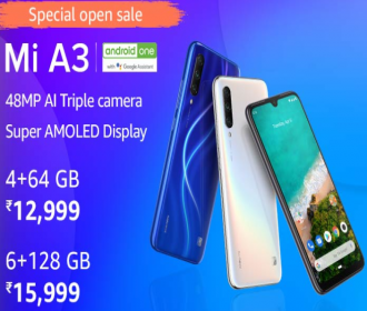 Buy Xiaomi Mi A3 From Amazon @ Rs 11,999: Open Sale, Specifications, Buy Online in India