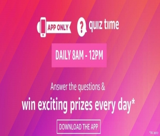 Amazon Quiz Answers Today, amazon quiz contest today answer, amazon quiz winners, Amazon Pay Quiz Answers