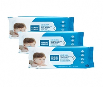 Buy MeeMee Caring Baby Wet Wipes with Aloe Vera (216 Pieces) at Rs 208 from Flipkart