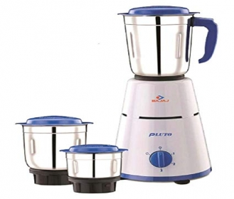 Buy Bajaj Pluto 500 Watt 3 Jar Mixer Grinder at Rs 1,849 Only from Flipkart