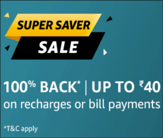 Amazon Recharge Offers: Do Rechrge or Bill Paymnets & Unlock 100% cashback on Money Transfer