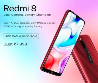 Buy Xiaomi Redmi 8 Flipkart Price @Rs 7999- Next Sale Date @12th Oct 2019, Specifications Buy Online