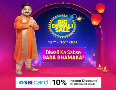 Flipkart Big Diwali Days Sale Offers [12th Sept - 16th Oct 2019]: Get Upto 90% Off Mobile, Electronics, Clothing Deals + Extra 10% SBI Card Discount