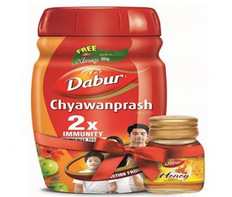 Buy Dabur Chyawanprash: 2X Immunity- helps build Strength and Stamina-1Kg at Rs 255 from Amazon