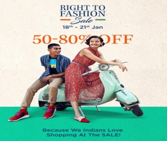 Myntra Right To Fashion Sale: Get Upto 50-80% Off on All Fashion Products + Extra 10% Instant Discount Via City Bank Debit/Credit Card [18th-21st Janu
